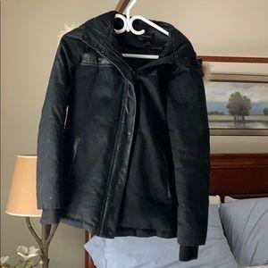 Danier bomber style fur/leather jacket